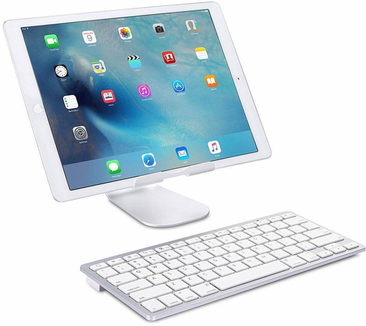 iPad 2018 draadloos bluetooth toetsenbord wit kopen