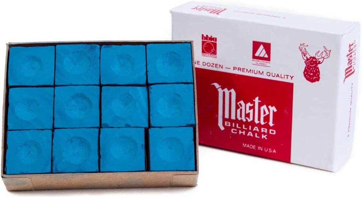 Biljartkrijt Master Blauw 12 stuks