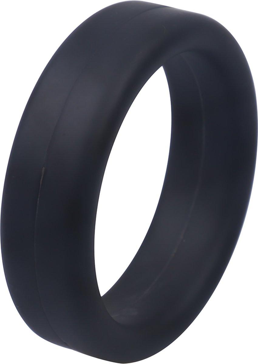 Foto van Banoch - siliconen Cockring black ∅ 45 mm - penisring