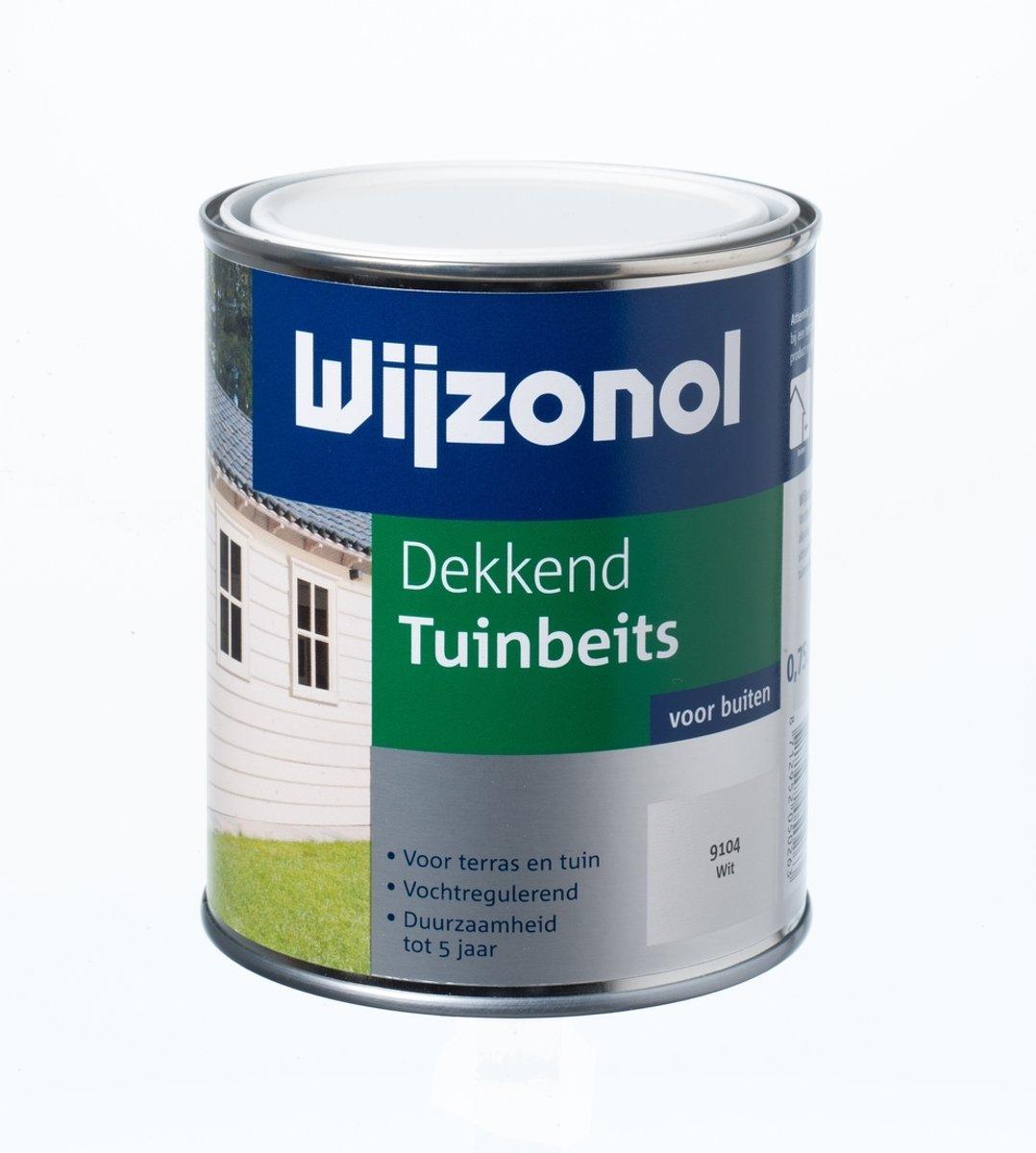 Wijzonol Dekkend Tuinbeits - 0,75 liter - Roomwit