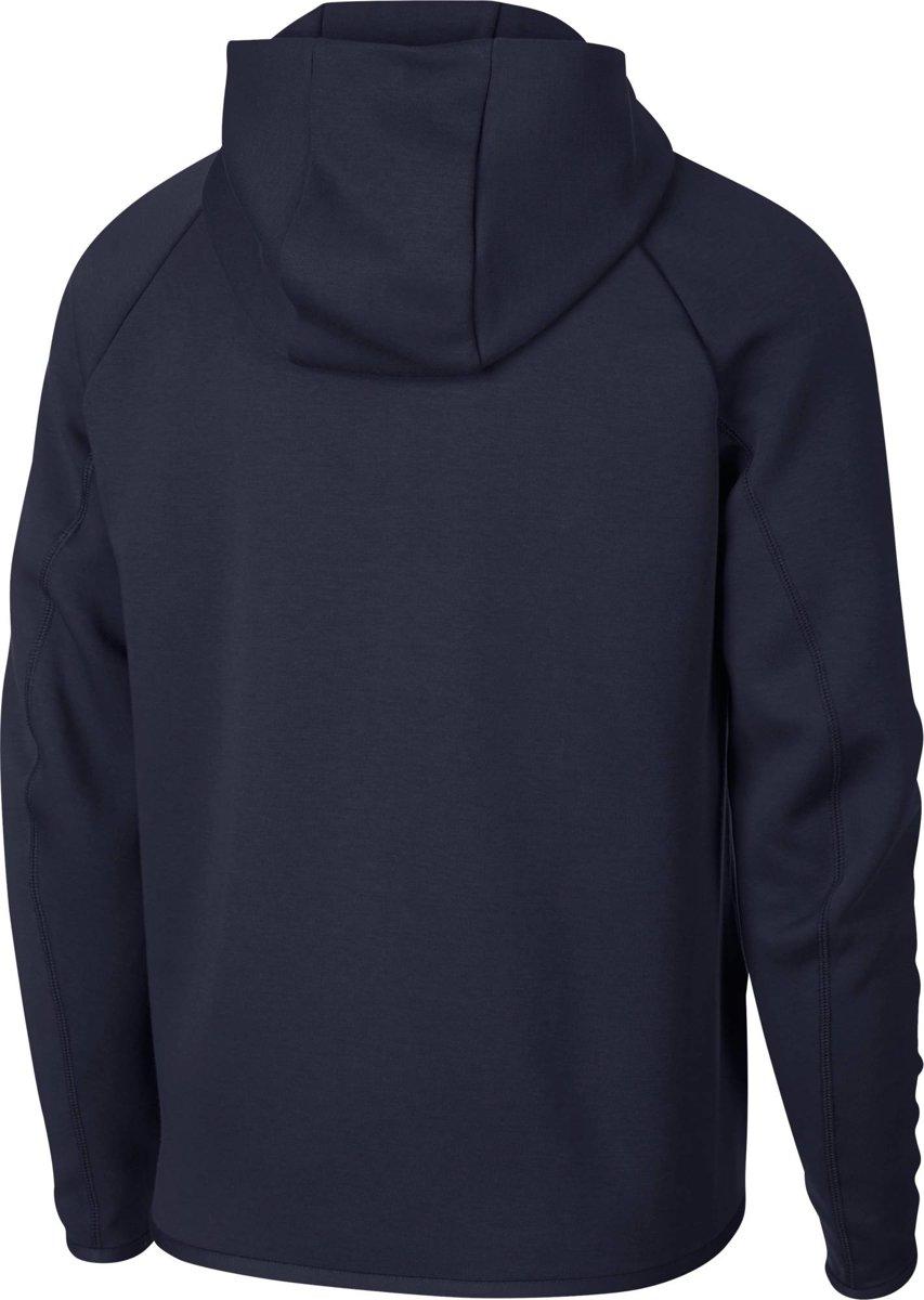 ac8ac3d64ff bol.com | Nike MSW Tech Fleece Hoodie Fz Vest Heren - Obsidian/(White) -  Maat S