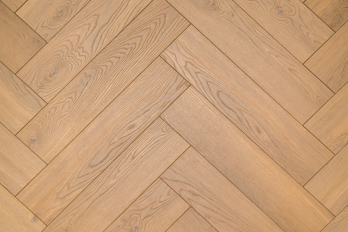 Floer Visgraat Laminaat Vloer - Natuur Eiken 64 x 14,3 x 1,2 cm kopen