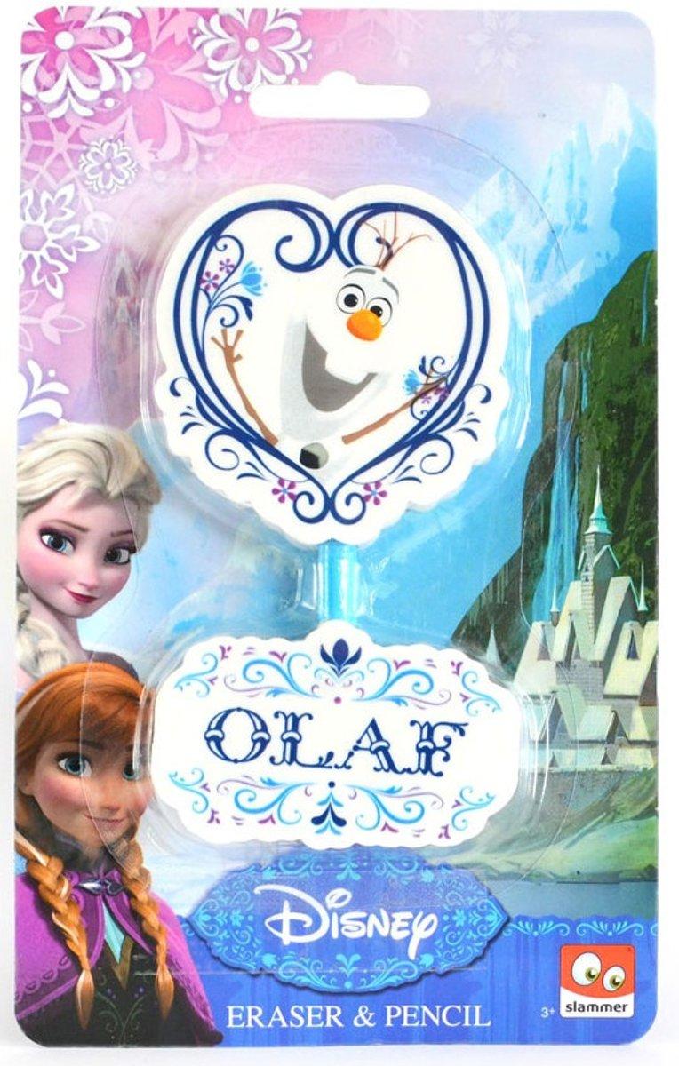 Slammer Frozen Gummen En Potlood Olaf 7 Cm 3-delig kopen