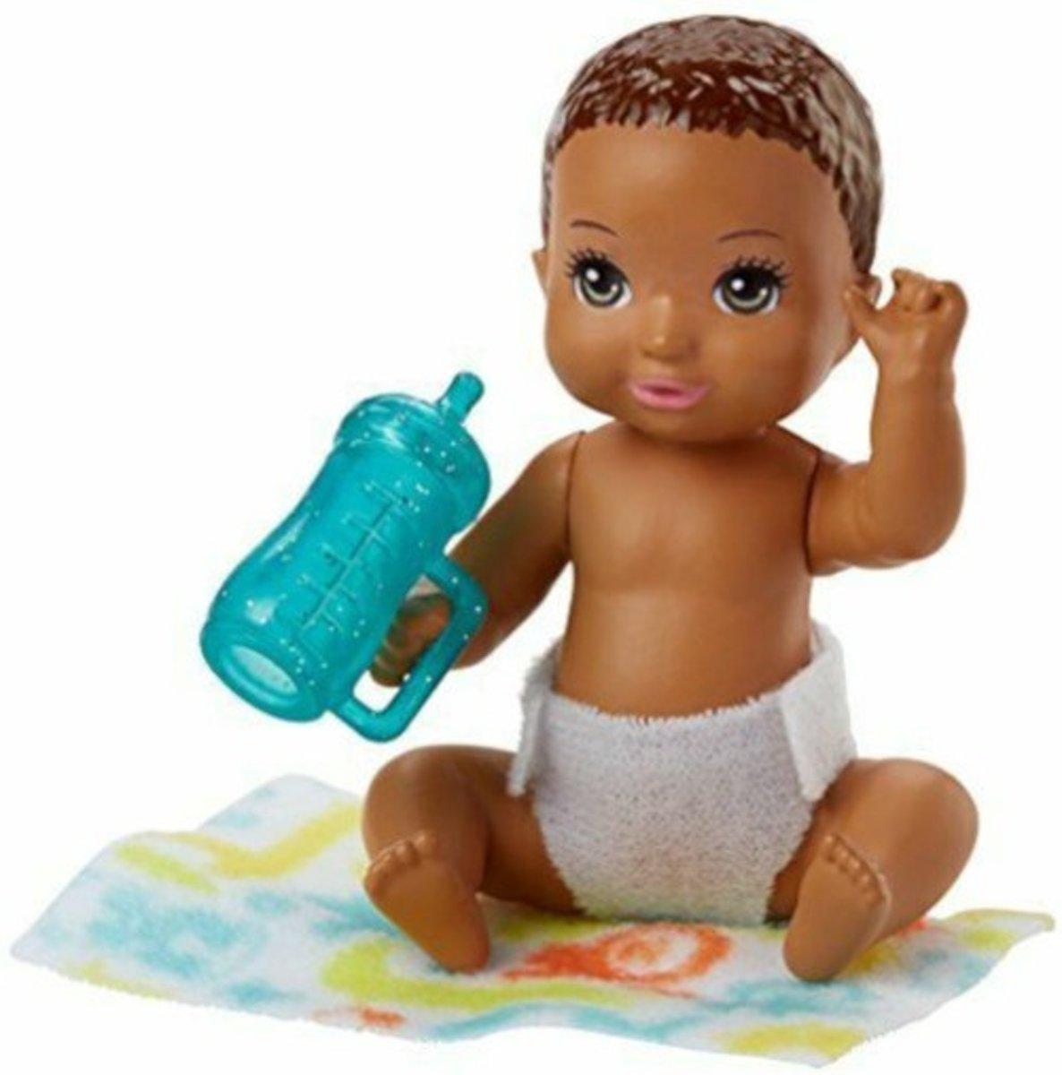 Barbie Babypop Skipper Babysitters Meisjes 6 Cm Bruin (fhy79)