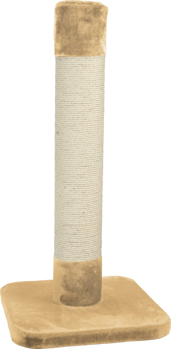 Duvo+ Krabpaal Trump Tower - Krabpaal - 56 cm x 56 cm x 120 cm - Beige
