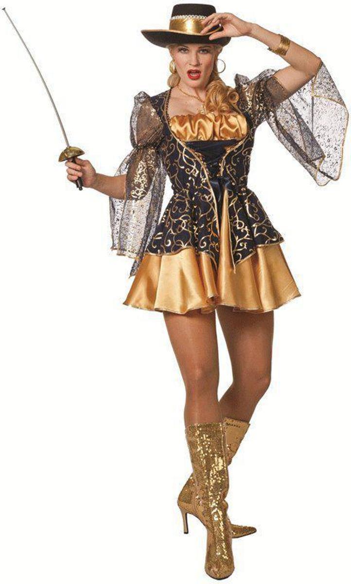 Sexy musketiers jurkje voor dames 36 (s)