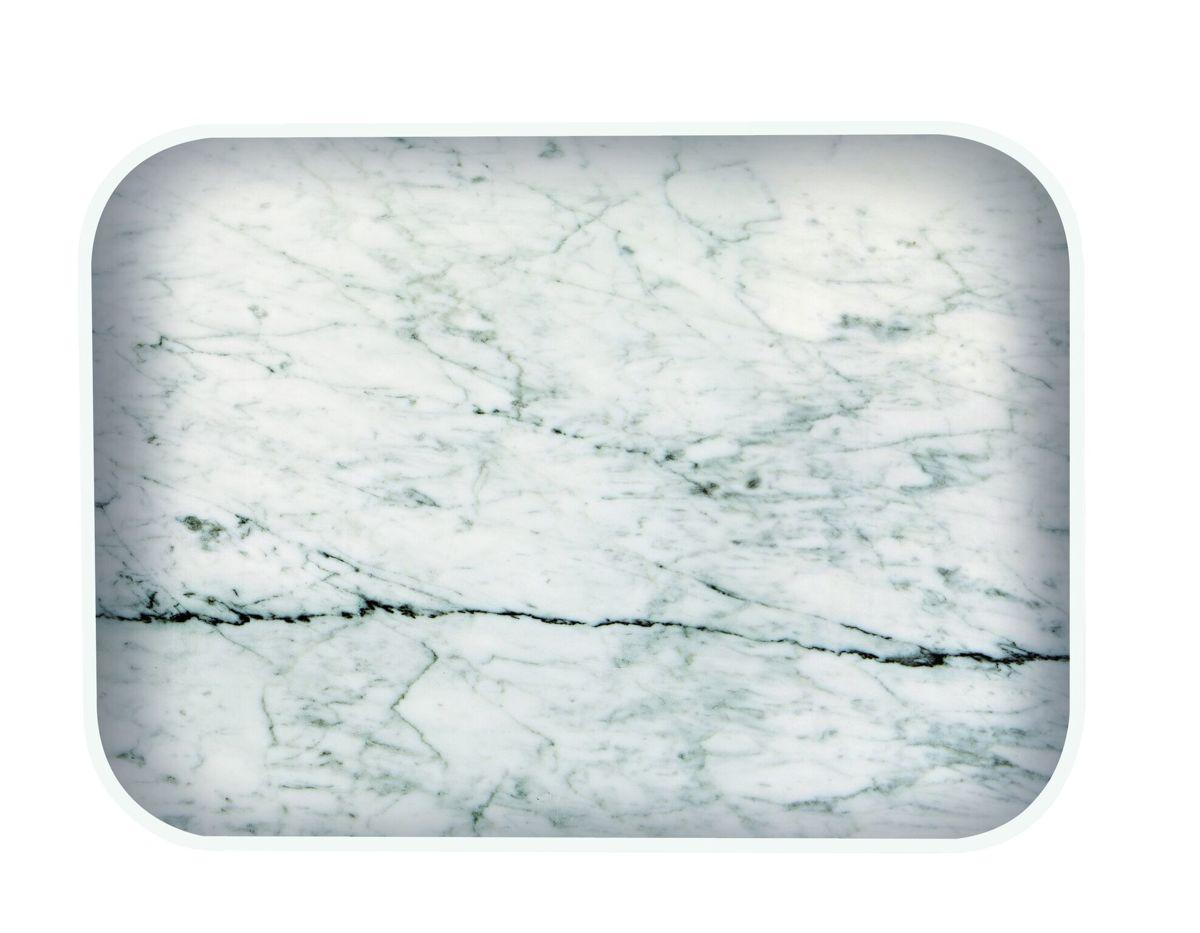 Zak!Designs Osmos Dienblad - 28 x 20 x 1,1 cm - Wit/marmer