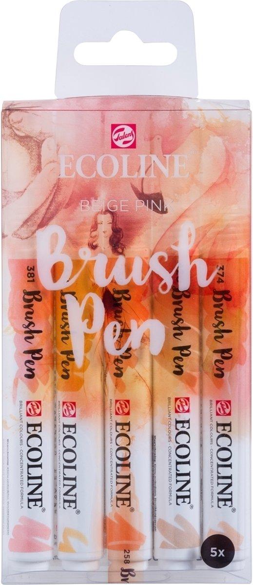 Talens Ecoline 5 brush pens Beige Pink
