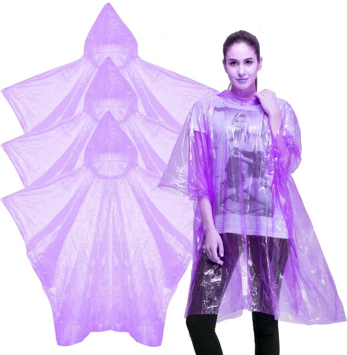 20x wegwerp regenponcho paars - poncho kopen