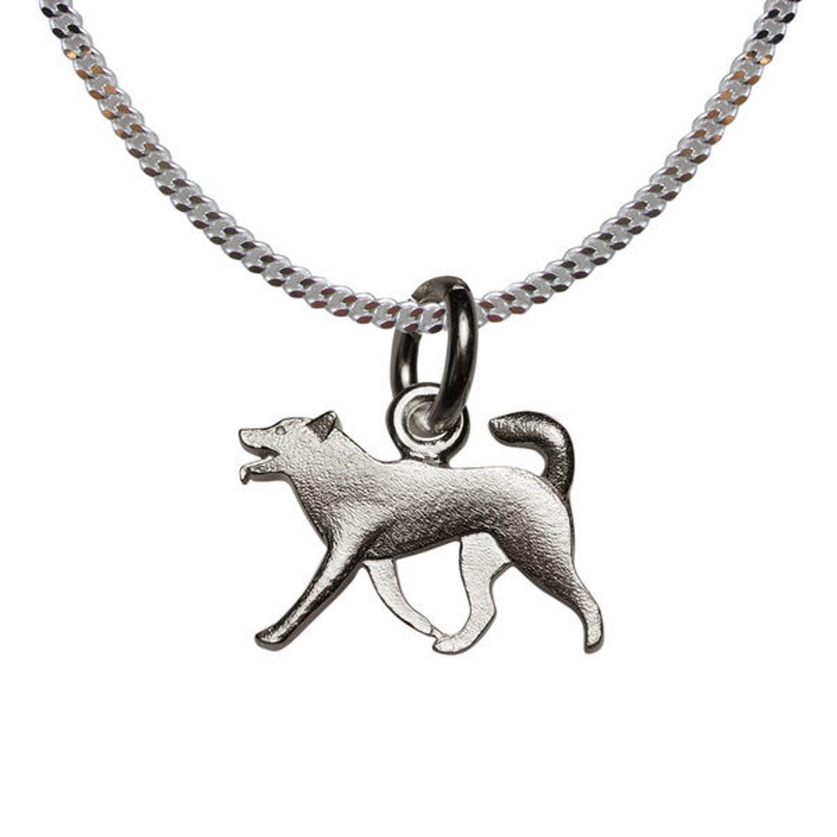 Kleine zilveren husky kopen