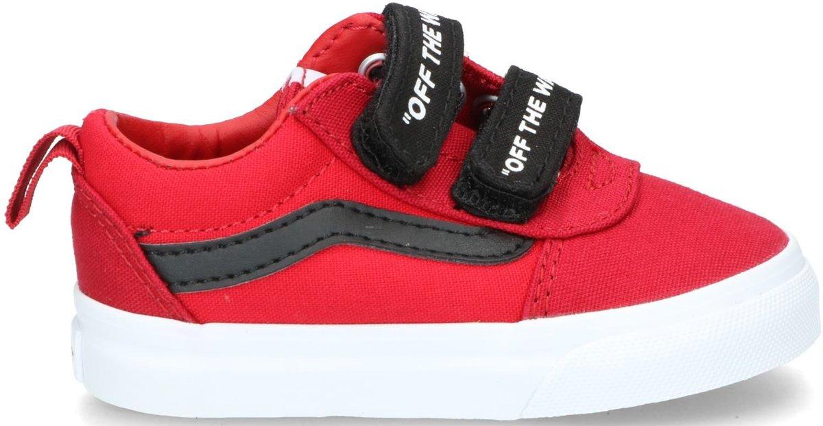 Vans Vans TD Ward V zwart rood sneakers baby