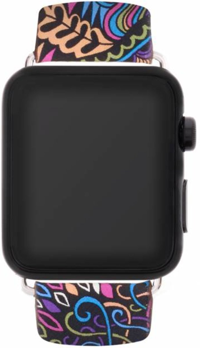 Blauw color design lederen bandje voor de Apple Watch 40 / 38 mm kopen