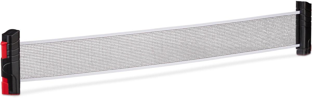 relaxdays tafeltennisnet uitschuifbaar - tafeltennisnetje oprolbaar net - klemmen - 176 cm kopen