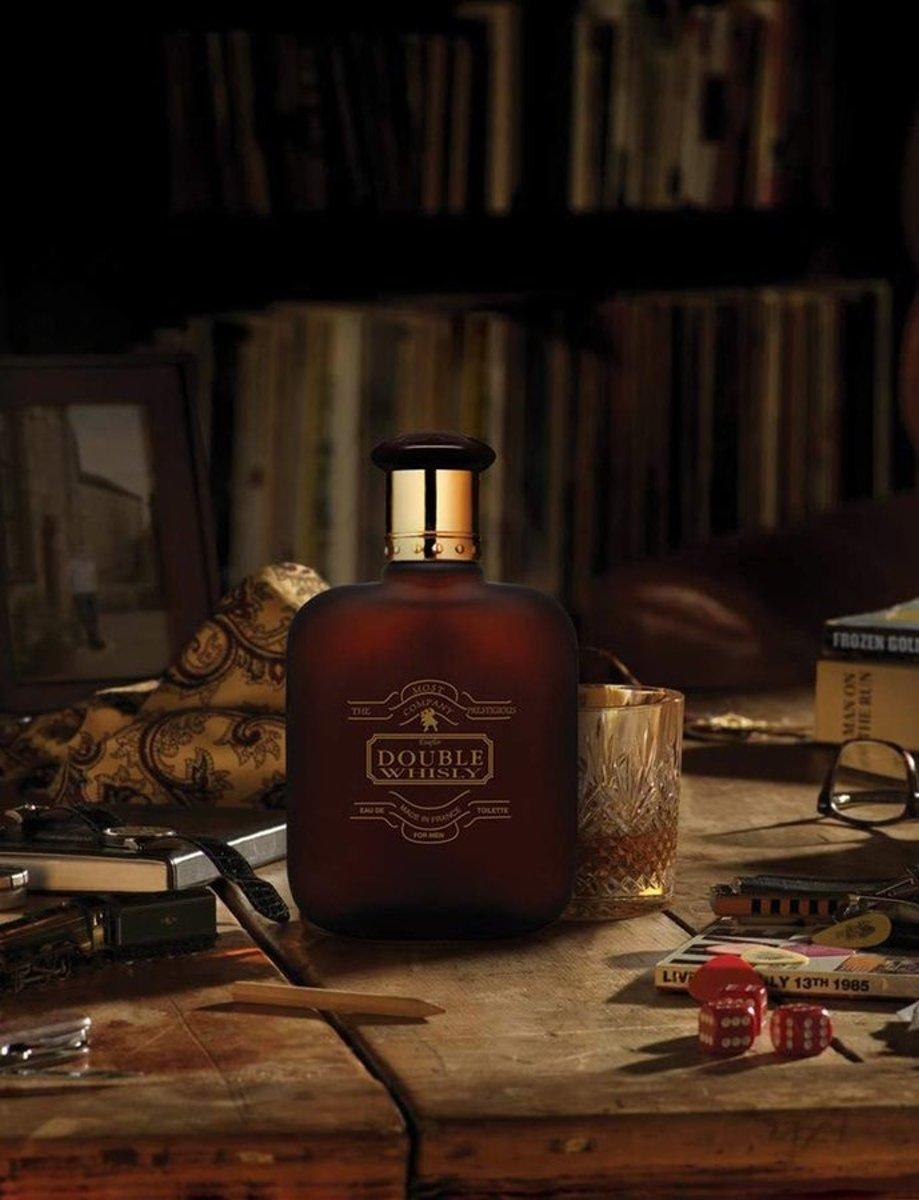 Whisky DOUBLE Heren Parfum Heerlijke geur met Bergamot Kruidnagel Musk 100 ml