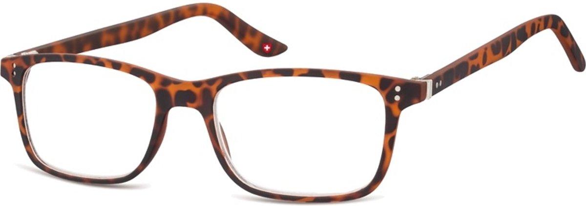 Montana Leesbril Mr72a Unisex Rechthoekig Turtle Bruin Sterkte +3.00 kopen
