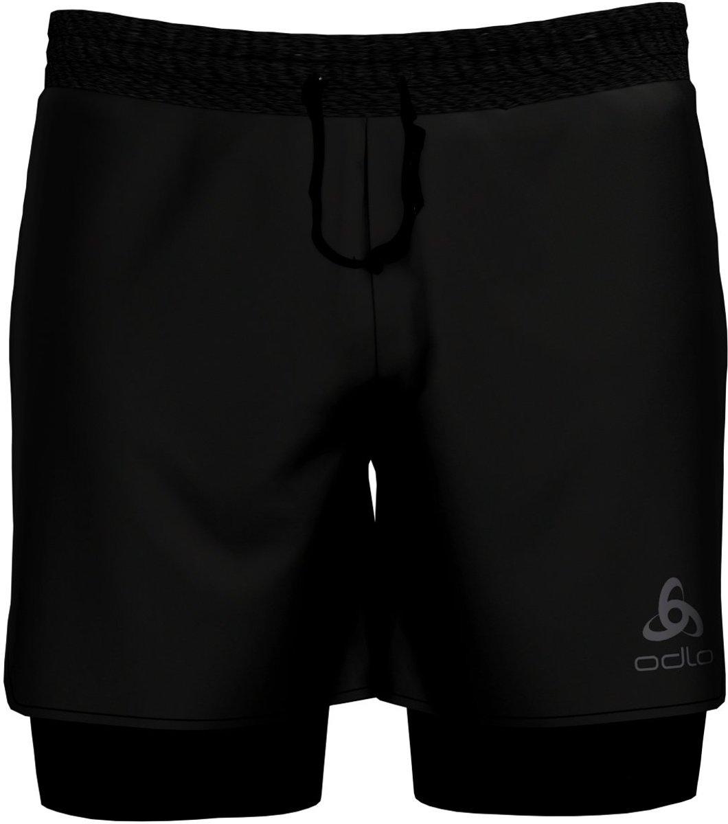Odlo 2-In-1 Shorts Millennium Linencool Pro Heren Sportbroek - Black-Black - Maat XL