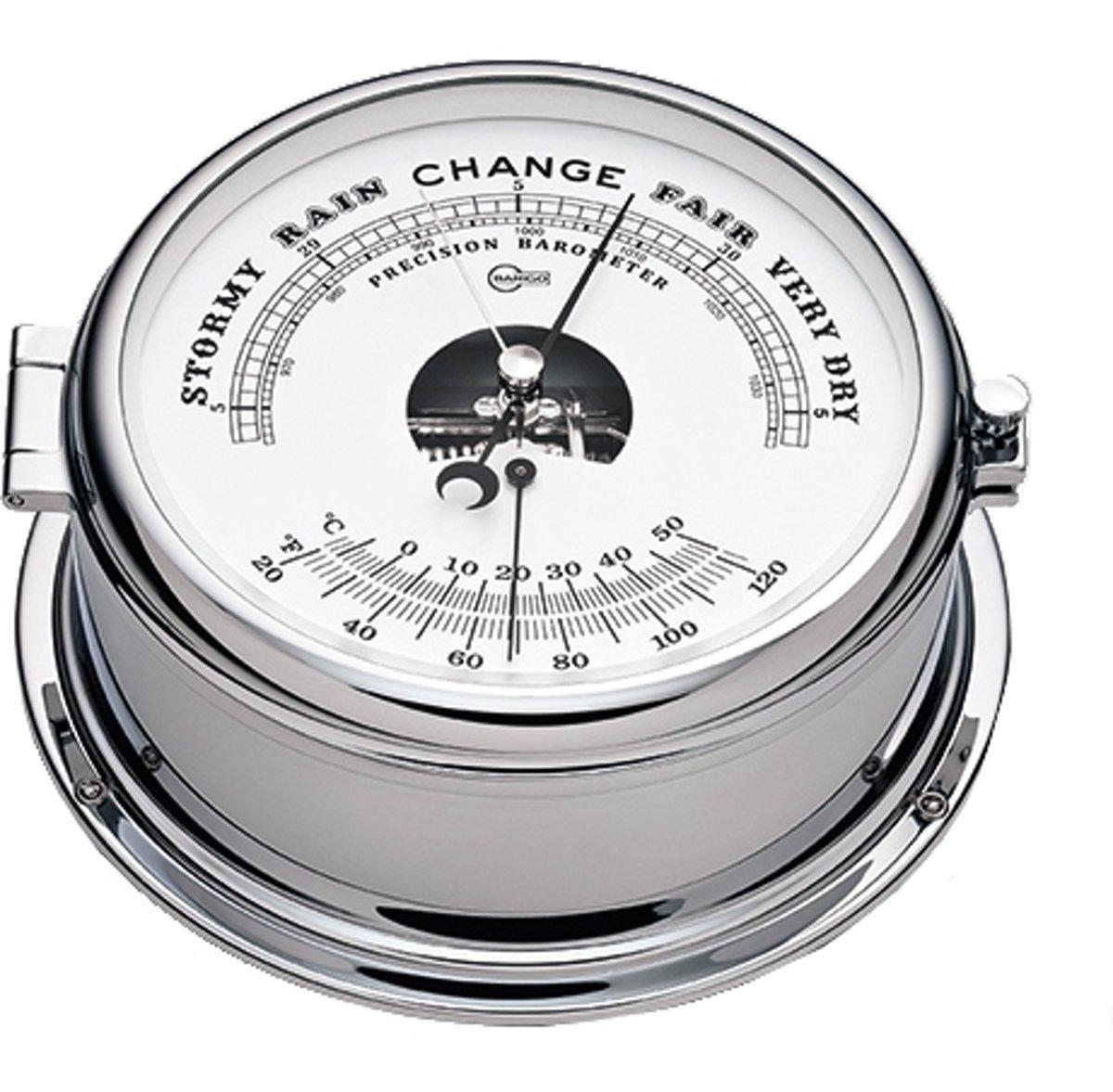 Barigo 586.2cr barometer en klok, chroom gepolijst kopen