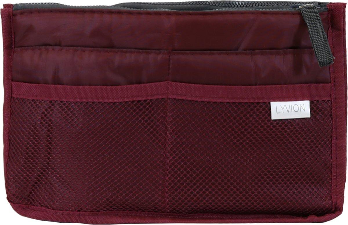 d26bb1c85cf bol.com | Bag in Bag Tas Organizer 11 vakken en ritssluiting - Wijnrood