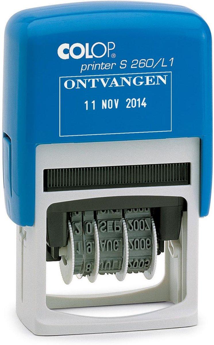3x Colop tekststempel met datum Printer tekst: ONTVANGEN