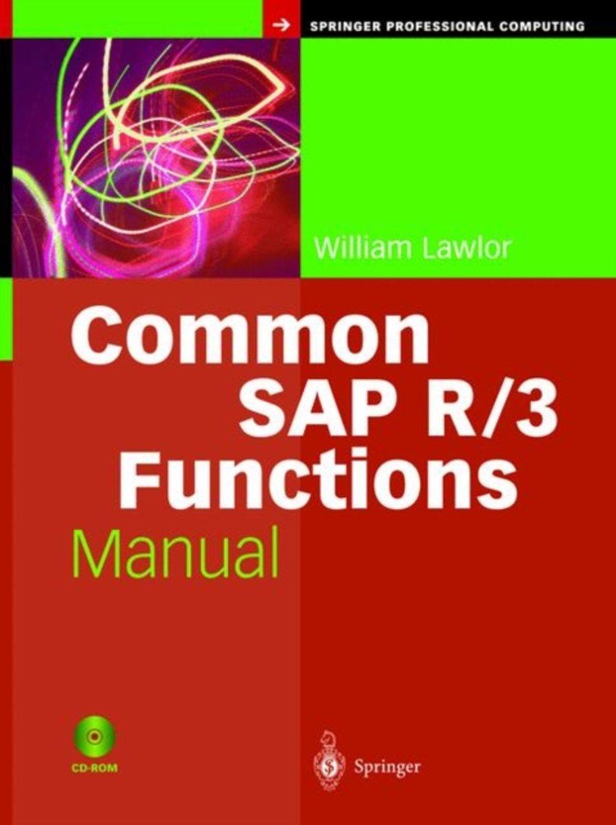 bol.com   Common SAP R/3 Functions Manual, William Lawlor   9781852337759    Boeken