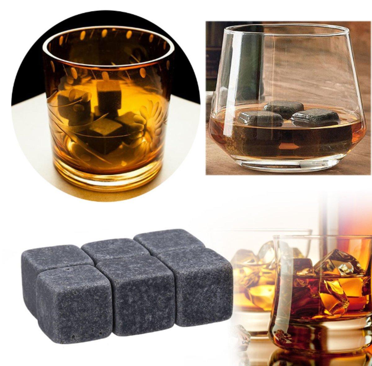 30 Whisky Stenen / Blokken - Natural Whiskey Stones kopen