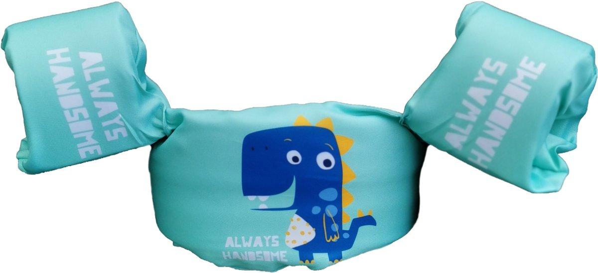 Zwemvest Dino mintgroen-Zwemvest kind- Zwemvest Kinderen- Veilig Zwemmen- Zwemband- 2 tot 6 jaar