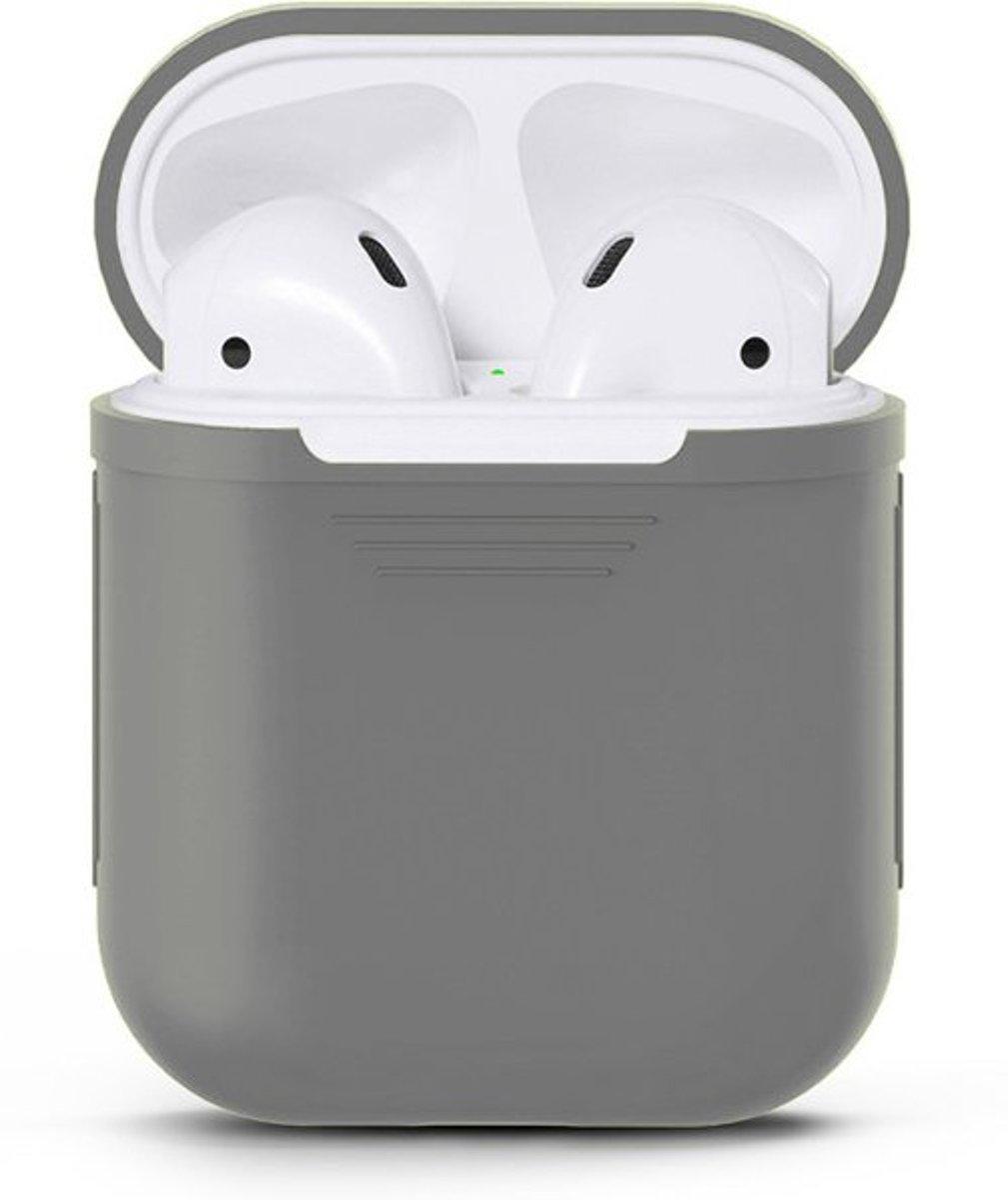 KELERINO. Siliconen hoesje voor Apple Airpods Softcase - Grijs kopen