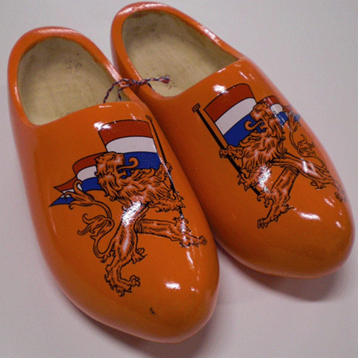 Sabots De Bois Orange Avec Lion btxZe