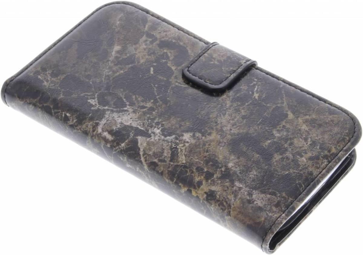 Livre Boîtier De Type Marbre Brun Pour Samsung Galaxy A5 fXIPyW