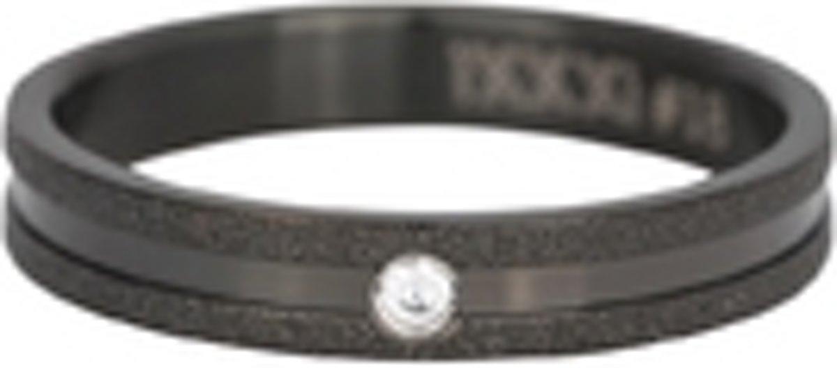 iXXXI Vulring sandblasted cristal stone zwart 4mm - maat 18
