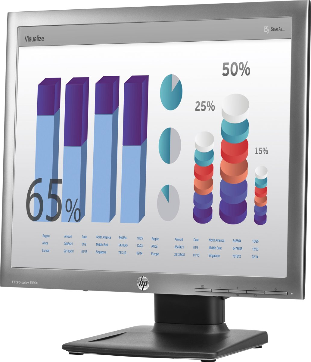 HP EliteDisplay E190i 18.9'' LED Zilver computer monitor
