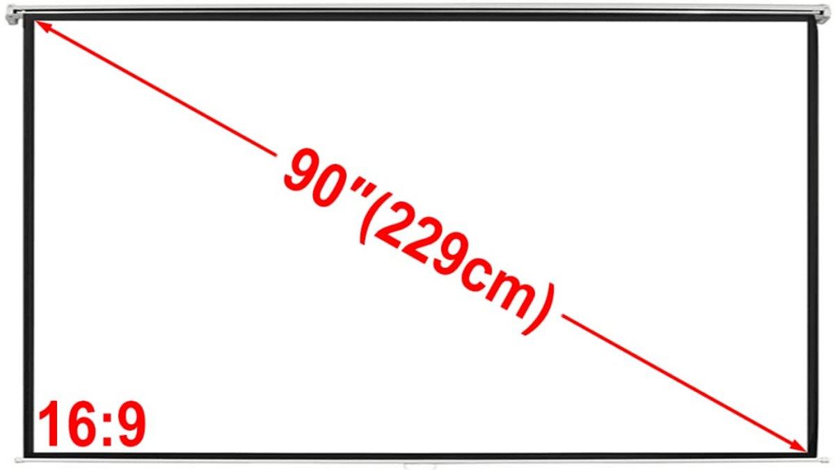 vidaXL Projectiescherm wit 200 x 113 cm (16:9 formaat) kopen