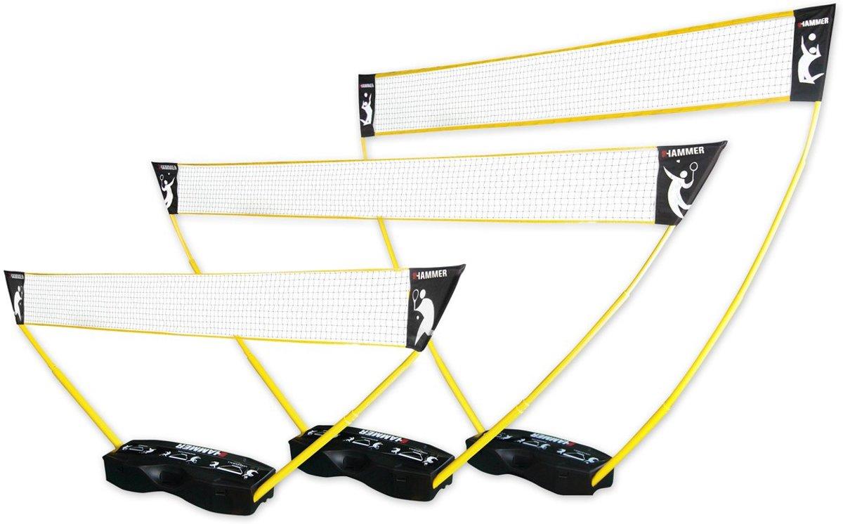 Hammer 3-in-1 set voor volleybal, badminton en tennis kopen