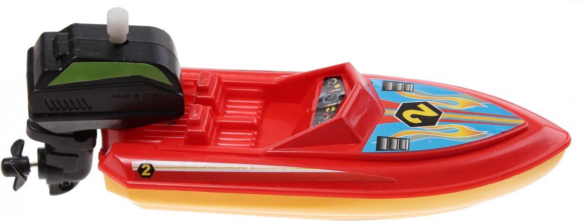 Waterzone Opwindbare Speedboot 15 Cm Rood