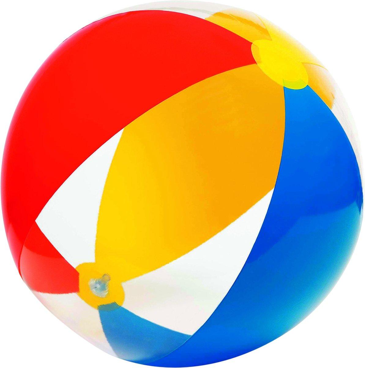Intex Strandbal Rood/blauw/geel 61 Cm