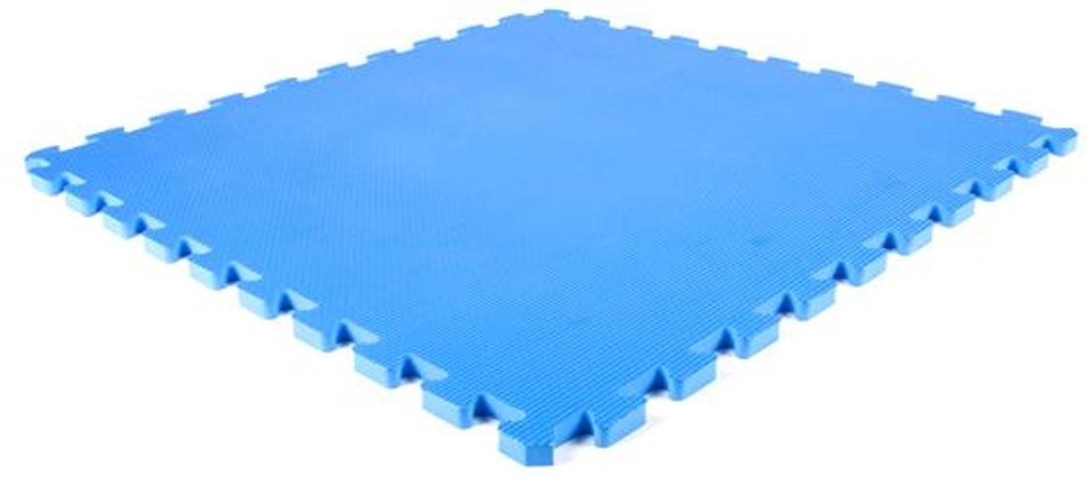 EVA foam tegel blauw 62x62x1,4cm kopen