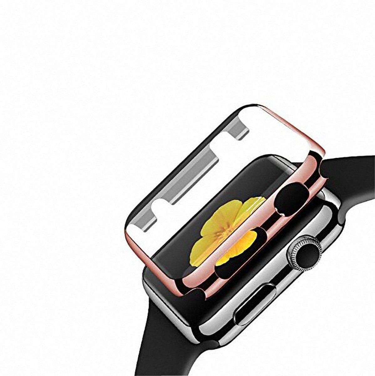42mm Case Cover Screen Protector rose goud 4H Protected Knocks Watch Cases voor Apple watch 3 Watchbands-shop.nl kopen