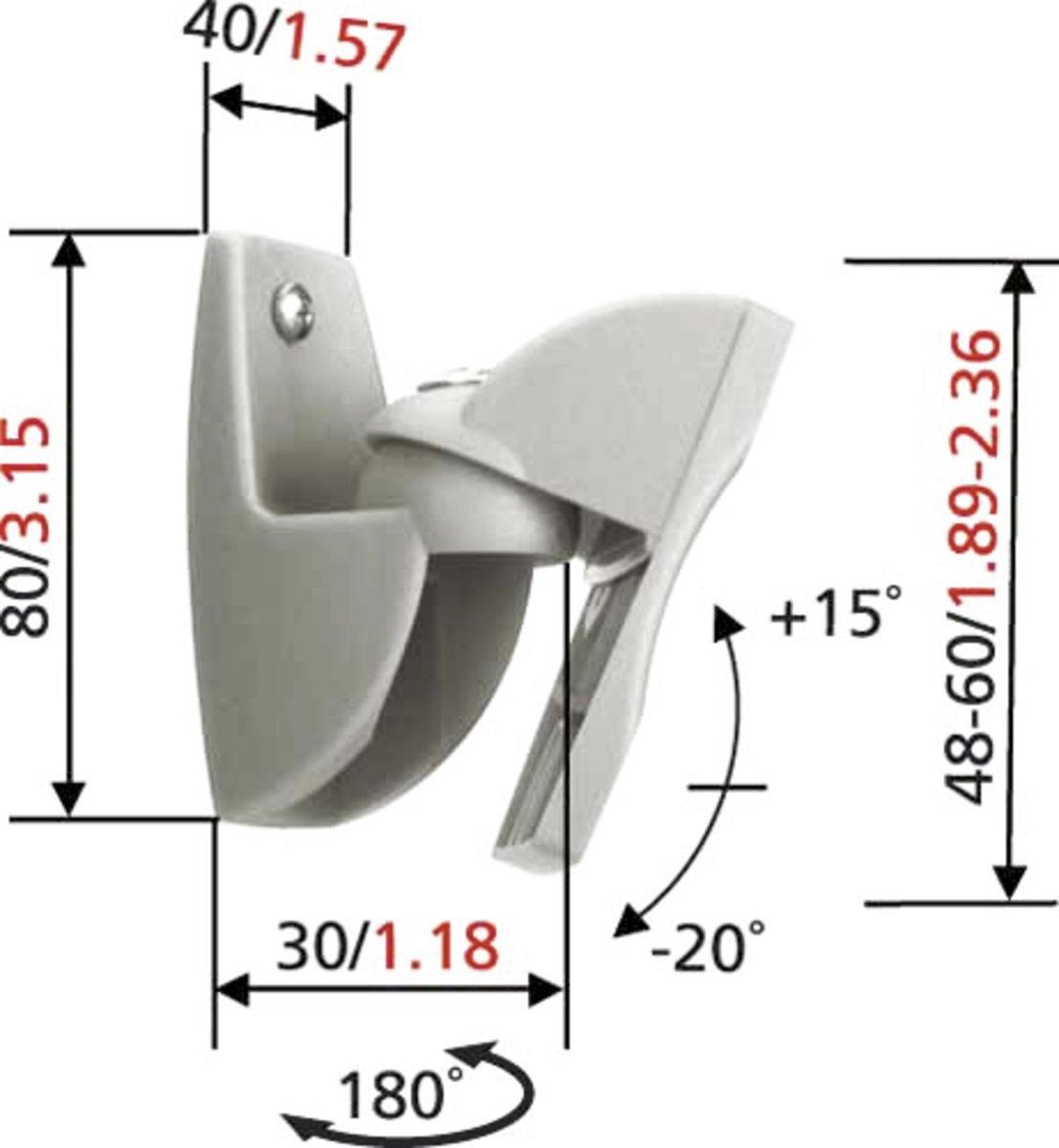 Bekend bol.com   Vogel's VLB 500 - Kantelbare en draaibare speakerbeugels AN56