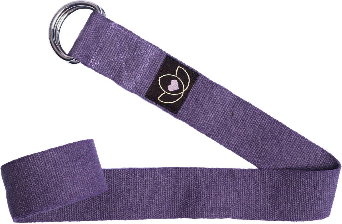 Yoga riem extra lang lavendel - Lotus kopen