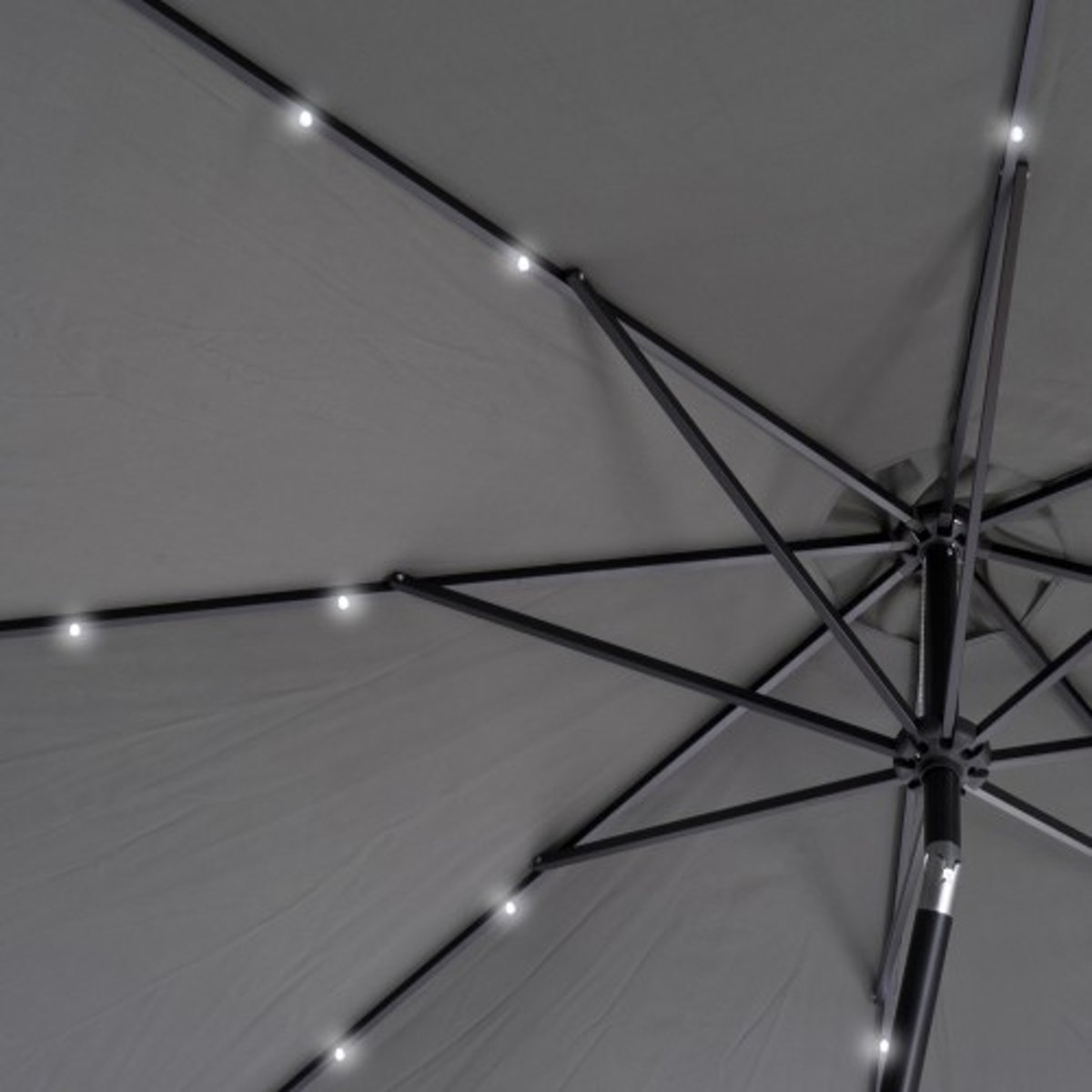 bol.com | SenS-Line parasol met LED verlichting-Antr. grijs