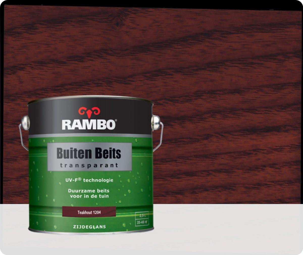 Rambo Buiten Beits Transparant - 2,5 liter - Teakhout