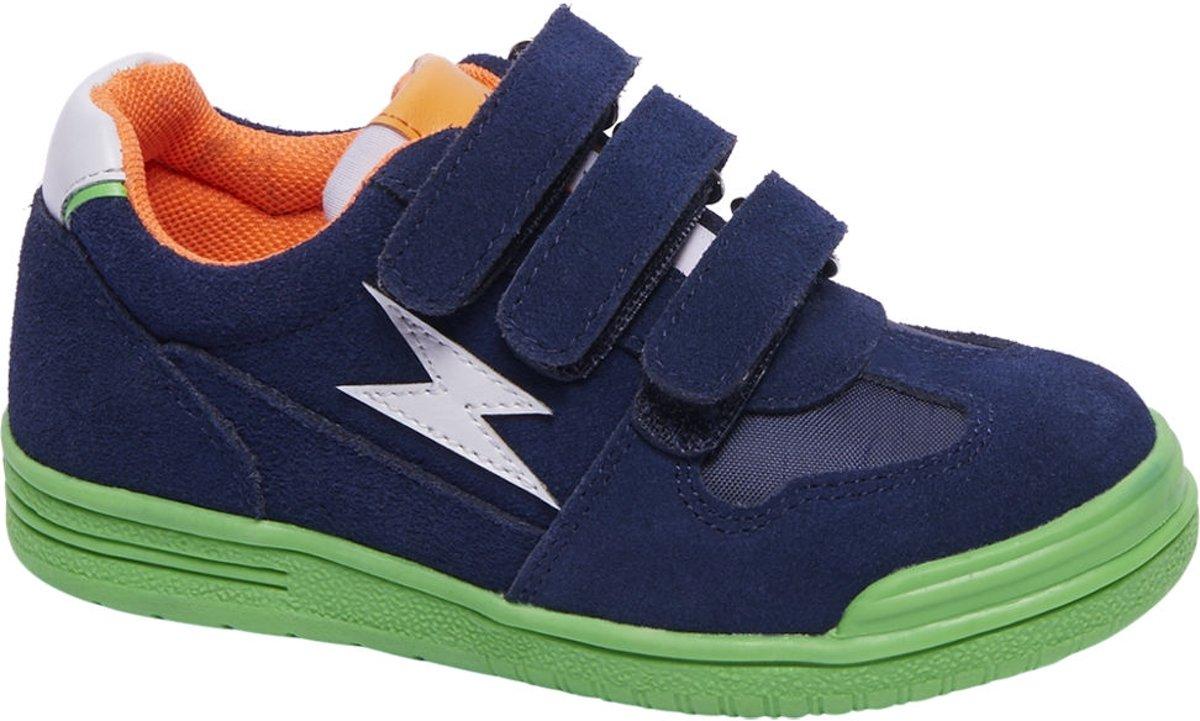 Bobbi-Shoes Kinderen Blauwe suède sneaker klittenbandsluiting - Maat 28 kopen