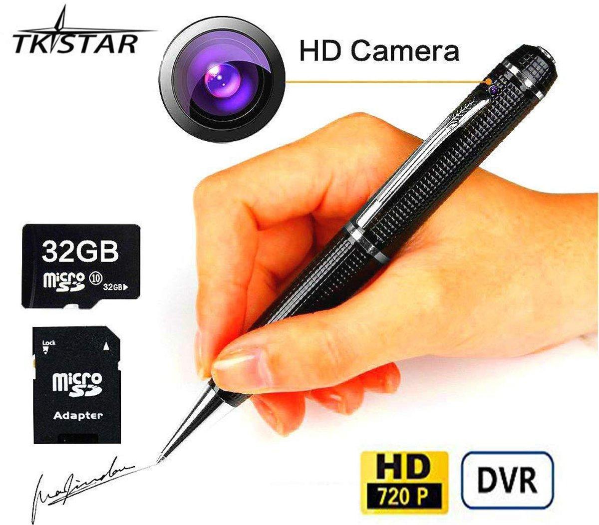 Verborgen Camera Spy Pen 32 GB SD Micro Kaart USB Kaartlezer 8 Inkt Vult bijgewerkte batterij kopen