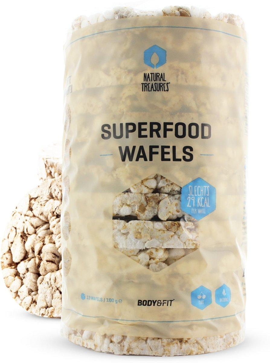 Body & Fit Superfoods Superfood Wafels - Zout & Suikervrij - 1 doos kopen