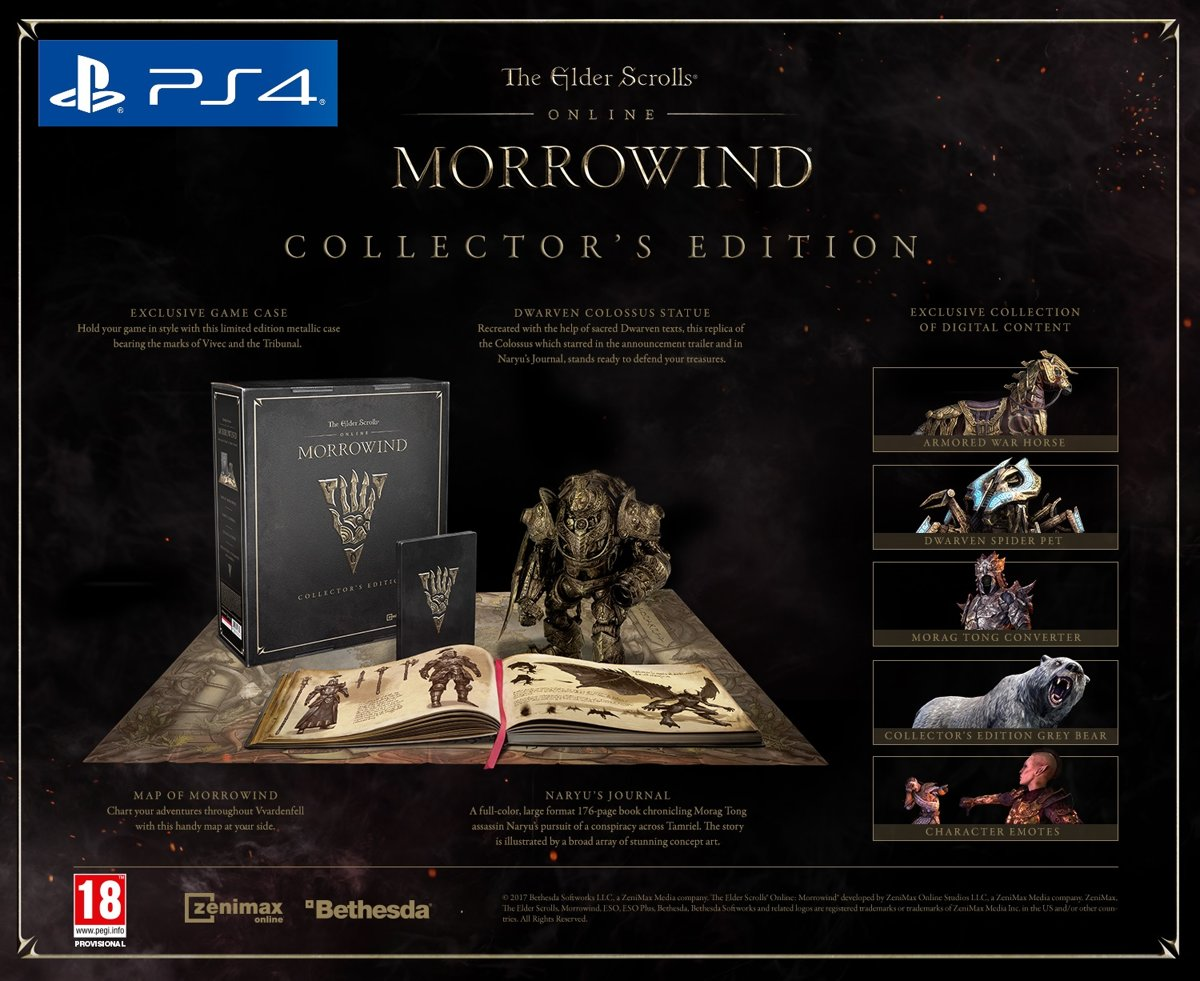 The Elder Scrolls Online: Morrowind - Collector's Edition PlayStation 4