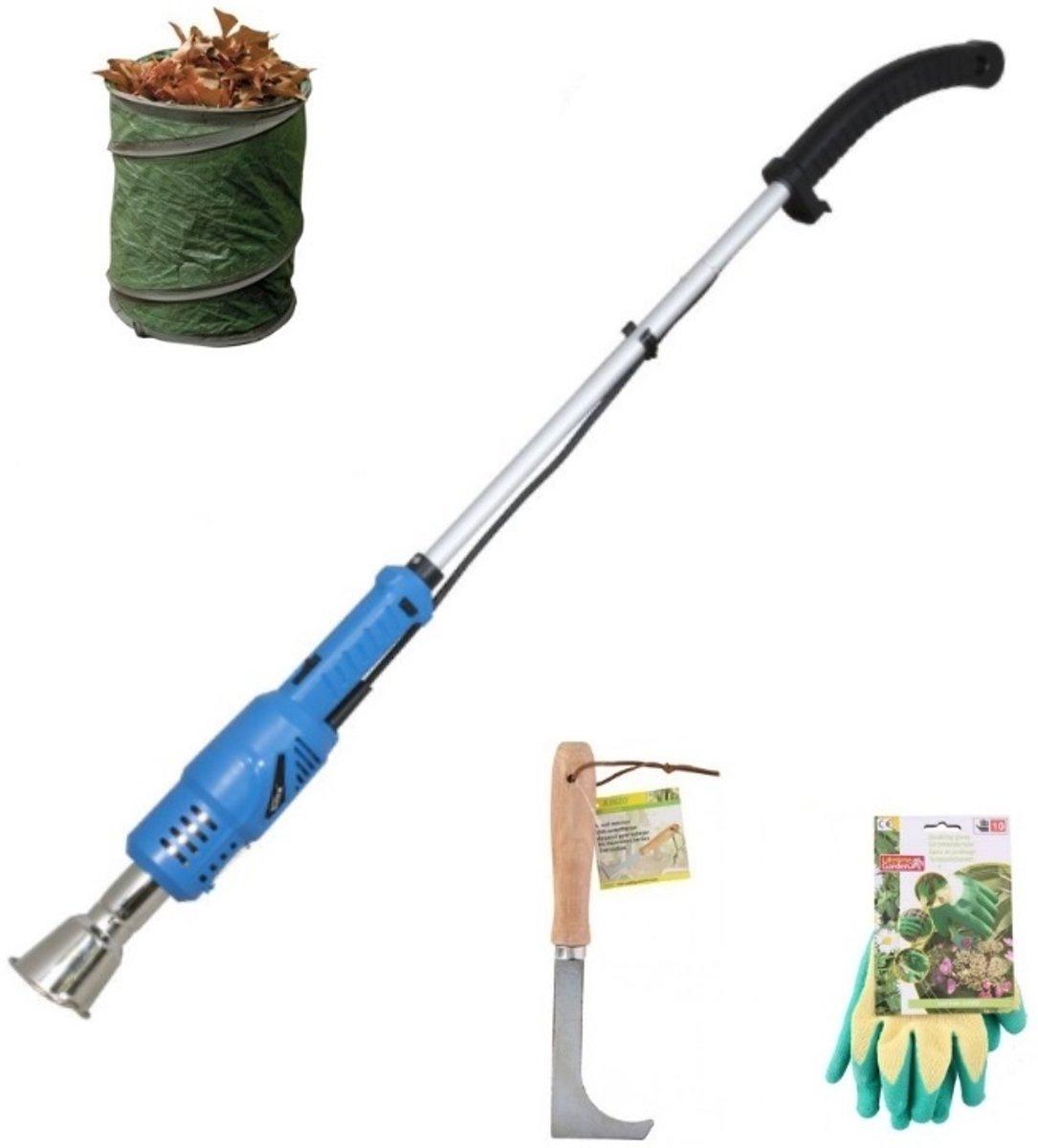 Güde Onkruidbrander voordeelset | Güde Elektrische Onkruidbrander UVH 2000-600 (2000 W) + voegenkrabber + tuinhandschoenen + tuinafvalzak kopen