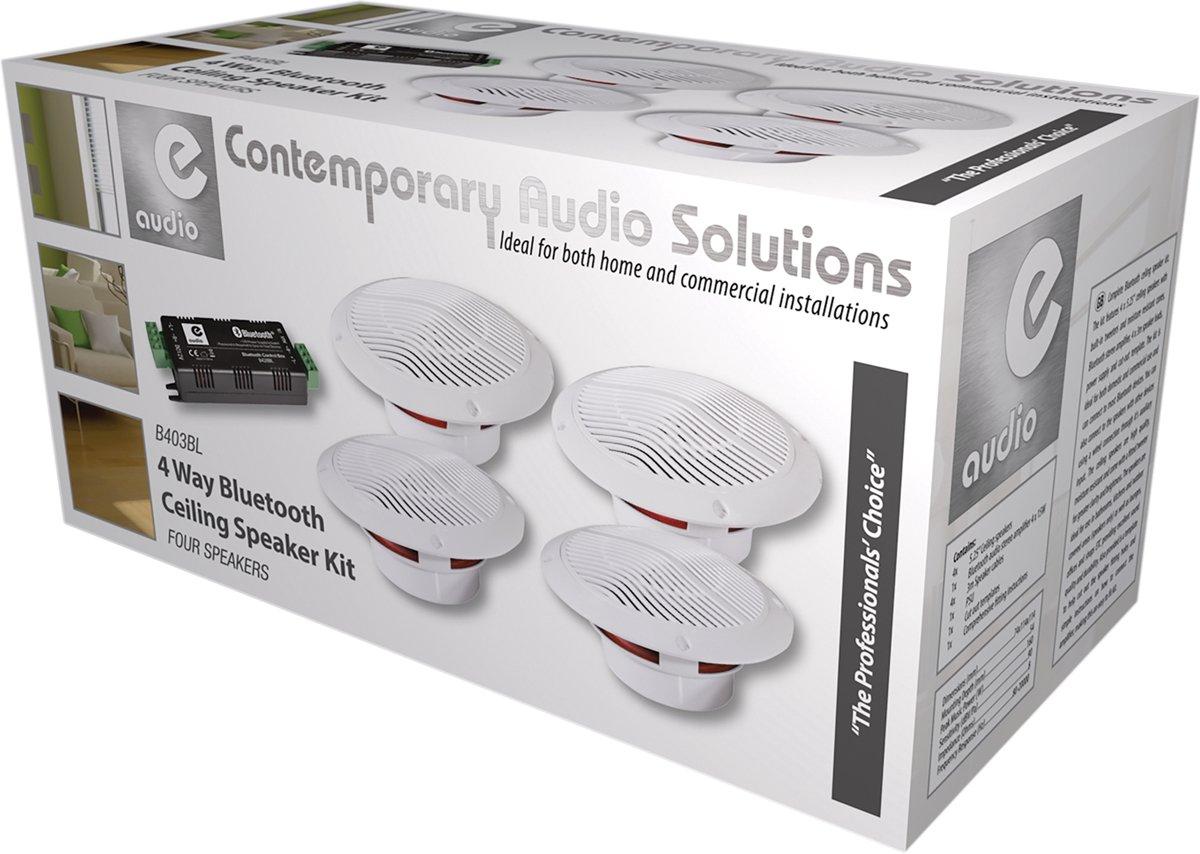 Badkamer Speaker Bluetooth : Bol.com e audio b403bl waterdichte badkamer met 4x speaker en