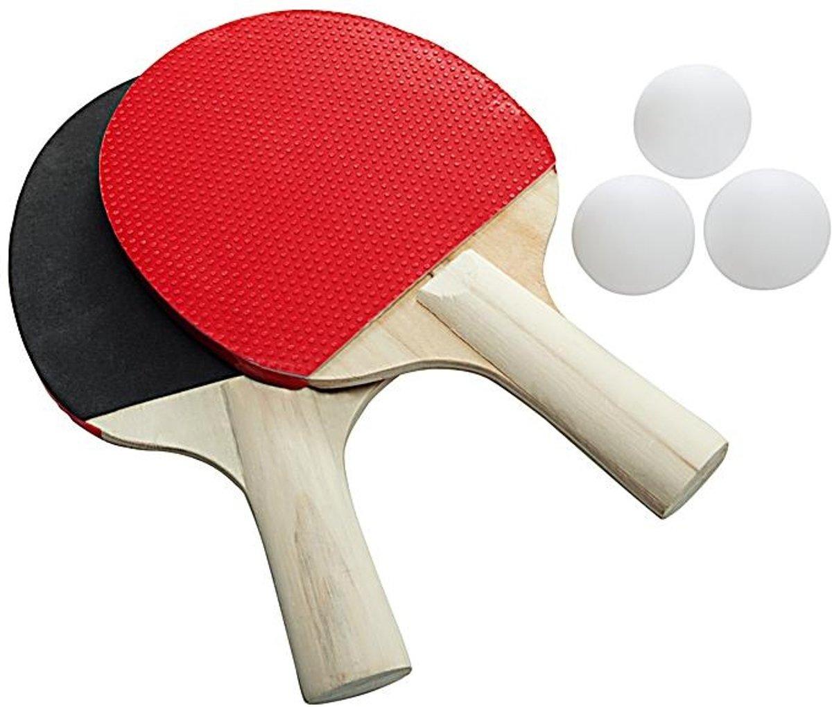 Playfun Tafeltennisset 5-delig Rood kopen