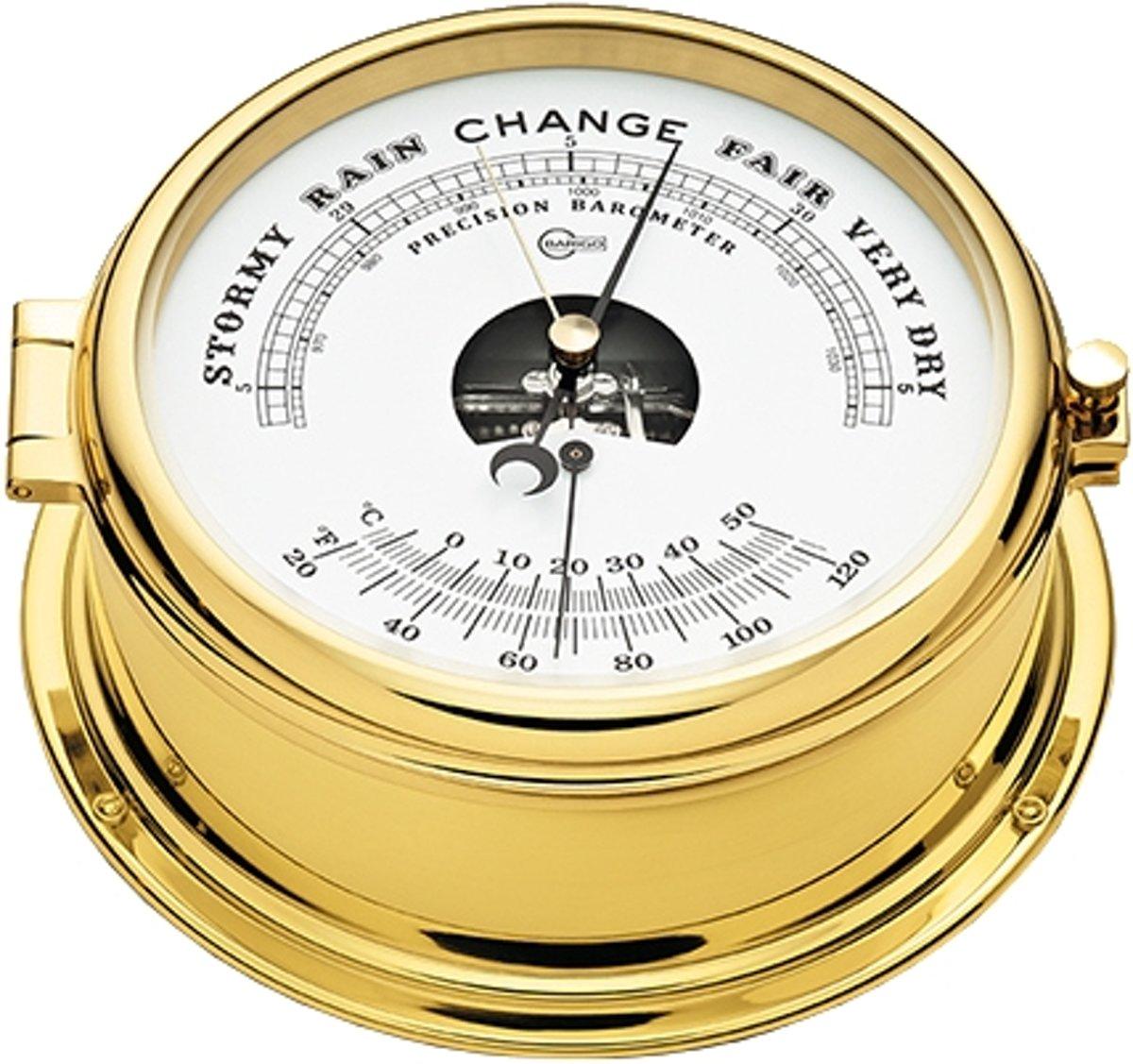 Barigo 586.2ms barometer en thermometer messing gepolijst kopen