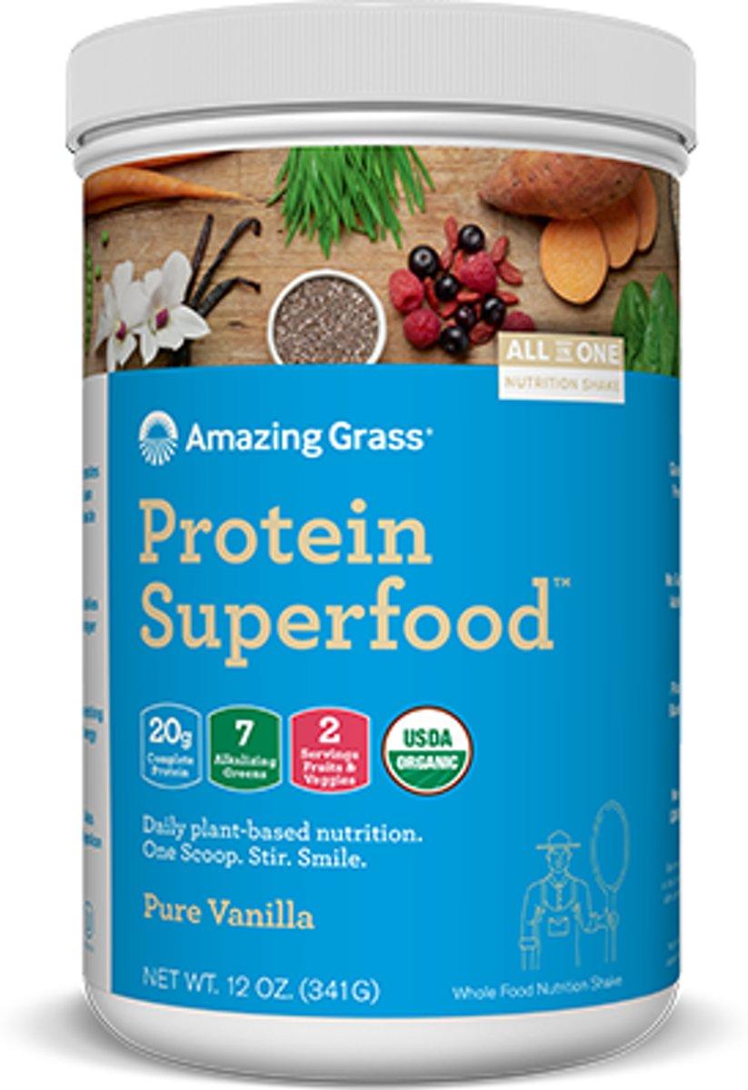 Amazing Grass Protein Superfoods - Pure Vanilla - 1 verpakking (341 gram) - Vegan supplement kopen